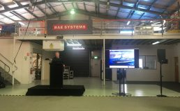 Michael Grainger welcoming attendees to the BAE Systems event