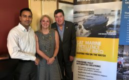 Fred Bkamdin, Business and Projects Manager EPSA and Di Edgerton, AIDN Tas President with TMN Chair Rob Miley